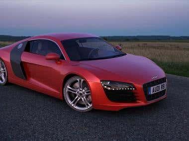 3Ds Max Audi R8 Model