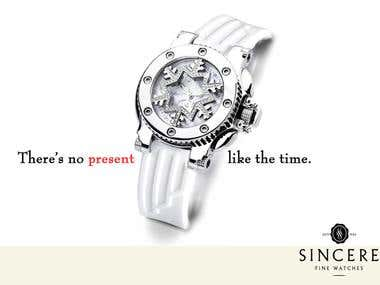Sincere Watches Holiday ad