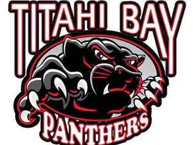 Logo Design for Titahi Bay Panthers