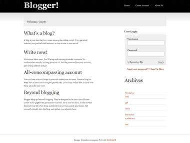 Blogging Website