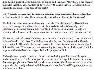 Google - Panda's and Penguin's