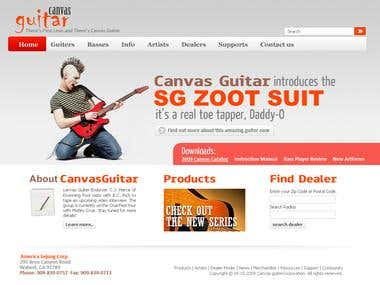 Canvas Guiter