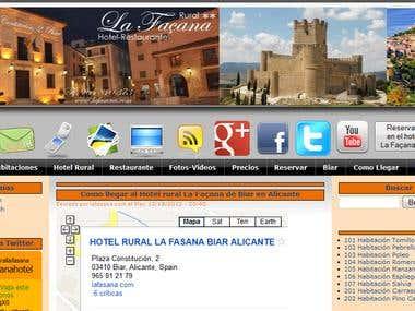 Hotel rural La Façana de Biar en Alicante