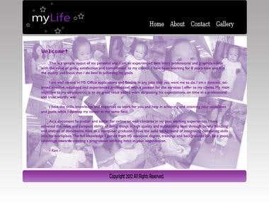 Sample Web Personal Design