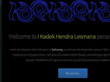 My website KdeK.com