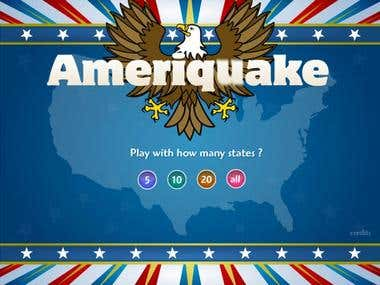 Educational Geography Game Ameriquake