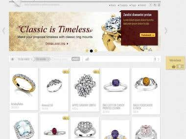 First demo of eCommerce website