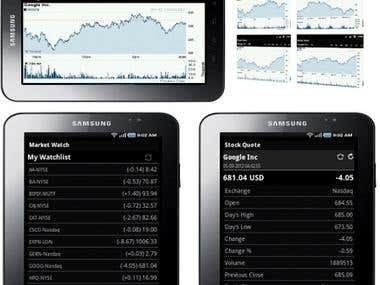 Android Stock Market Watch in Mono C#