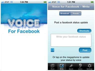 Voice For Facebook iPhone App