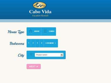 Cabo Vida Vacation Rental (Twitter bootstrap)