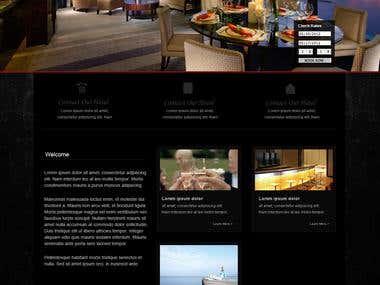 Web Page Layout - Hotel