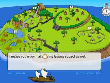 Educational Grammar game The Semicolon Wars
