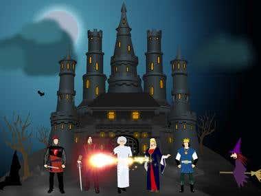 Flash educational math game Computation Castle