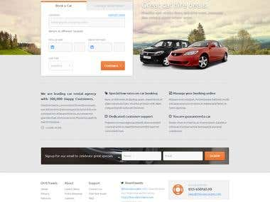 OMS car rental website with booking application