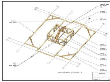 Roof for a frame house