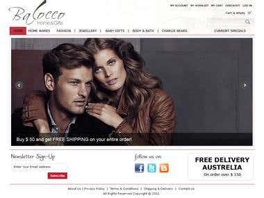 Balocco Magento Web Store