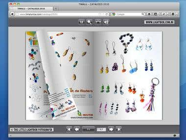 Web Flash - Product Catalog For TIMALU, S.A.