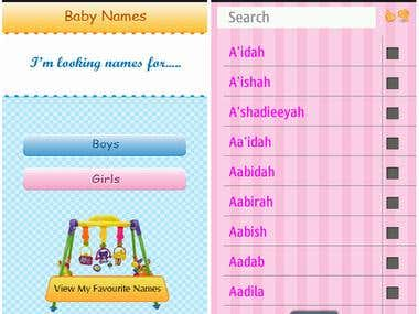 Muslim Baby Names Android App