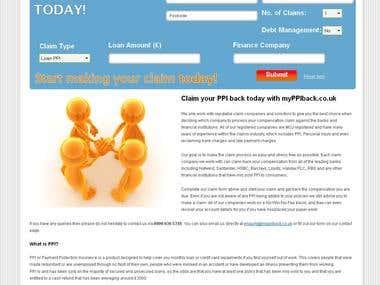 PPI Claim - wordpress site and claim form