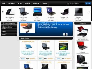 ProductListing Site with All Content Customization Facility
