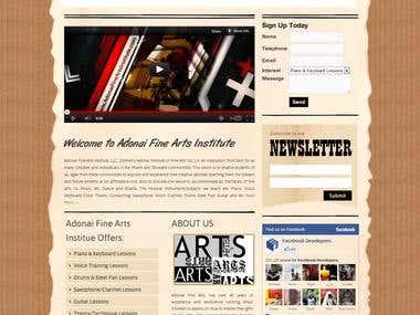 Adonaifinearts Institute  website (wordpress)