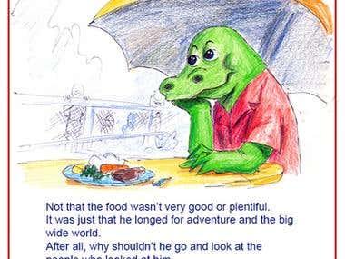 Alec the Alligator illustration
