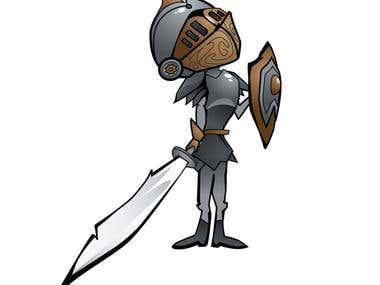 Creative Knight Illustration