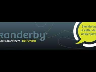 dynamic flash banner for Skanderby.dk