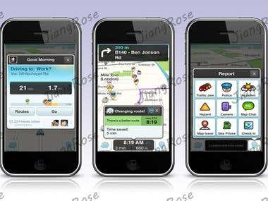Waze social GPS traffic & gas