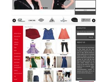 Armanduniform (wordpress e-commerce)