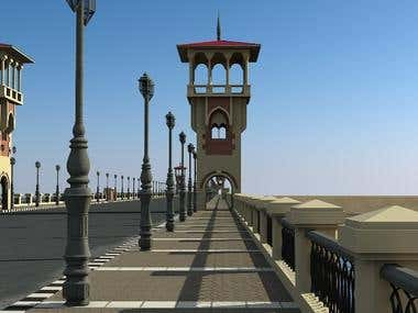 A 3D model for Stanly bridge in Alexandria