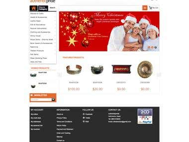 Authentic Pride (eCommerce CMS Website)