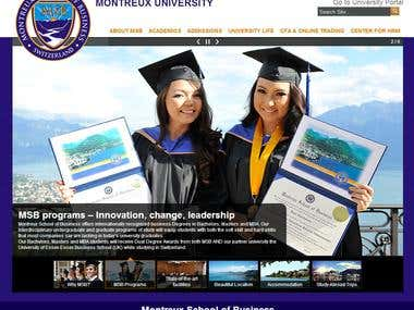 University Website using Joomla