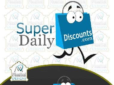 Daily Deal Discount  Logo Design