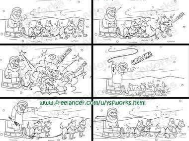 Cartoon Storyboards