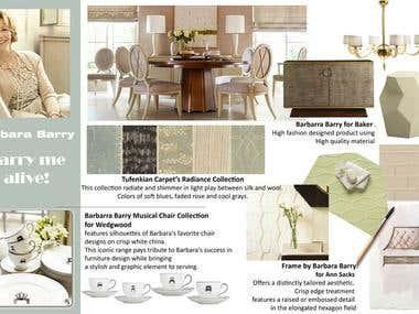 Furniture scheme for presentation (using Photoshop)