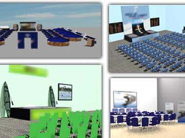 3D project scenes