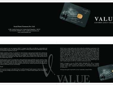 Value Card brochure designing