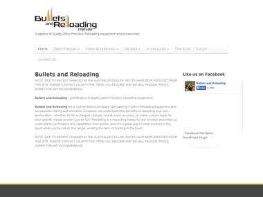 Bulletsreloading e-Commerce Site