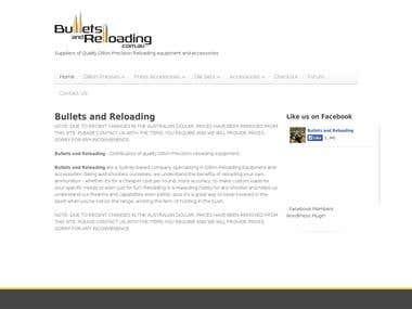 Bulletsreloading e-Commerce Site