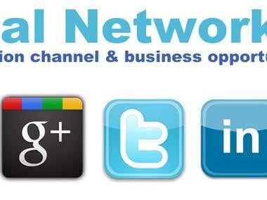 Facebook, Twitter,Google plus, LinkedIn, StumbleUpon
