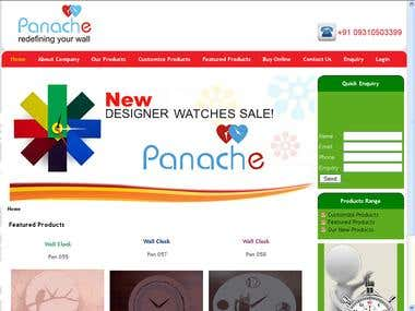 Panache | Customize Wall clock Website on Joomla and Flash