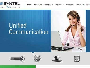 Telecom services corporate Website