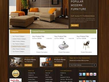 Website for promoting furniture business