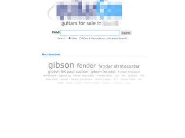 Scraped data based online guitars catalogue