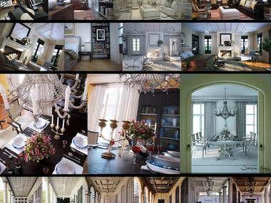 Interior architecture rendering