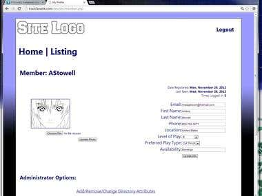 Dynamic User-Administrated Online Directory