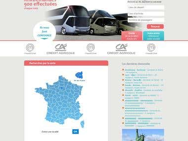 Website for Auto Renting in France