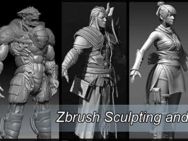 Zbrush Sculpting and Modelling