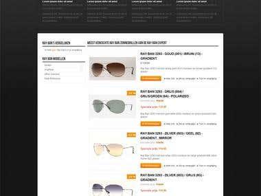 Eyeglasses magento store